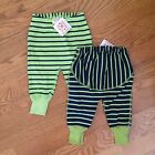 HANNA ANDERSSON boys girls cotton striped WIGGLE PANTS NWT 50 60 70 nb 3m 6m 12m