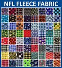 "NFL Fleece Fabric All Teams Sports Collection - 58-60"" Wide - Sold by The Yard!! $14.95 USD on eBay"