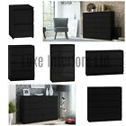 Ikea Style Black Chest Of Drawers Bedside Table Range 2-3-4-5-6-8-10 Drawer Unit