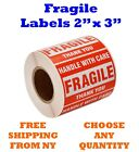 Внешний вид - 2x3 Fragile Stickers Handle with Care Thank You Mailing Labels 500/Roll Quantity