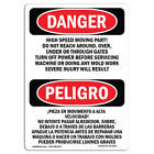 OSHA Danger Sign - High Speed Moving Part | Heavy Duty Sign or Label