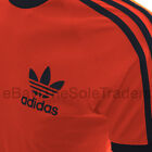 Mens Adidas Originals California Retro Sport T Shirt Black Red White All Sizes