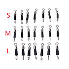 30pcs Ball Bearing Swivel Solid Rings Quick Fast Link Fishing Connector Hooks VH