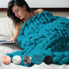 cheap tanning beds for sale - CHEAP SALE Handmade Chunky Knitted Blanket Wool Thick Line Yarn Throw Home Decor