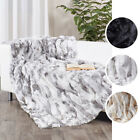 Real Rabbit Fur Blanket Bed Decor Real Fur Carpet 160*140cm Air-Conditioned Room