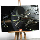 Star Wars Framed Box Canvas Print Picture Poster X-Wing Deathstar Tie Fighter A1