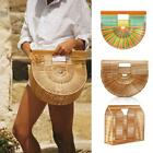 Womens Bamboo Bags Handbag Tote Purse Handmade Bag Beach Bag Shoulder Bag S5A5