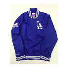 MLB Los Angeles Dodgers Mitchell & Ness 1/4 Zip Nylon Pullover Jacket - Blue on Ebay