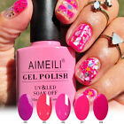 AIMEILI Neon Summer Pink Bright Colors Nail Gel Polish UV LE