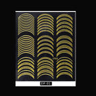 Nail Art Sticker Metal Gold 3D Striping Line Tape Chain Slider Decal DIY Decor
