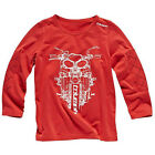 Triumph Junior Script Long Sleeved T Shirt Official Merchandise Red $11.11 USD on eBay