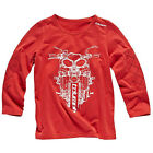 Triumph Junior Script Long Sleeved T Shirt Official Merchandise Red $11.19 USD on eBay