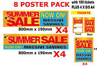Summer Sale Signage posters for shops and Retail advertising display