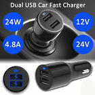 Car Charger 24W 4.8A Dual USB Car Adapter  Fast Charging Travel Charger