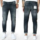 JACK & JONES Herren Slim Fit Jeans - GLENN FOX BL 655 - Grau/ Schwarz