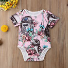 US Stock Newborn Baby Girl Star Wars Romper Pink Bodysuit Sunsuit Summer Clothes $6.69 USD on eBay
