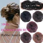 New Rubber Band In Curly Virgin Human Hair Buns Ponytail Messy Hair Extensions