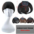 20g Machine Made human Clip in hair extensions women hair bang Fringe Temples