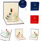 3D Pop Up Card Happy Birthday Cake Greeting Baby Gift Party New Hot Cards