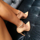 Womens Candy Color Pump Strappy Uk 2.5-8.5 Pointy Toe PointyToe High heel Shoes