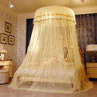 Home Hanging Lace Round Princess Bed Canopies Mosquito Netting Large Size Tent image