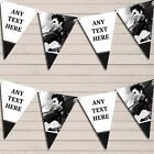 Elvis Presley White & Black Birthday Bunting Garland Party Banner