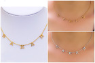 Personalized Sterling Silver and Gold Mini Name Necklace Any Name Spaced Letter