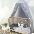Kids Round Children Lace Curtain Dome Bed Canopy Netting Princess Mosquito Net image