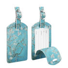 2 Pack Suitcase Luggage Tags Name Address ID Address Label w/ Back Privacy Cover
