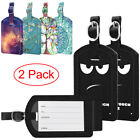 Внешний вид - 2 Pack Suitcase Luggage Tags Name Address ID Address Label w/ Back Privacy Cover