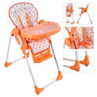 Adjustable Baby High Chair Infant Toddler Feeding Booster Seat Folding 4 Colors
