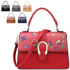 Ladies Designer Faux Leather Butterfly Satchel Bag Handbag Shoulder Bag MA34488