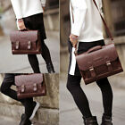 Leather Briefcase Satchel 14-13.3'' Laptop Bag Shoulder Messenger Bag Men Women