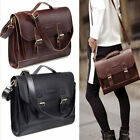 Leather Briefcase Satchel 14-13.3'' Laptop Bag Shoulder Messenger Bag Men Women image