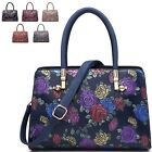 Ladies Floral Embossed Shoulder Bag Flower Grab Bag Handbag Tote Bag MA34970