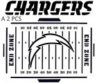 SAN DIEGO CHARGERS NFL MYLAR STENCILS CRAFTS SIGNS FOOTBALL MANCAVE $9.05 USD on eBay