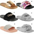 Womens Ladies Sliders Sandals Summer Comfy Slides Slippers Mules Shoes Size New