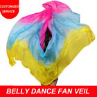 Silk Belly Dance Veil Belly Dance Scarf Veil Rose+Turquoise+Yellow
