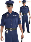 Adult Mens Police Officer Costume Policeman PC Cop Copper Fancy Dress Uniform