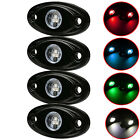 4x CREE 9W LED Rock Light Bar for JEEP Off Road Truck Boat Car Boat Under Body
