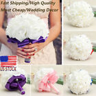 Wedding Bouquet Crystal Pearl Sequin Bridal Bridesmaid Rose Foam Flower Handmade