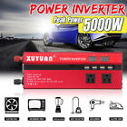 Power Inverter 3000W/4000W/5000W 12/24V to 110V/220V Sine Wave Camp Home Solar
