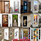 3D Door Wall Sticker Decals Self Adhesive Waterproof Scenery Mural Home Decor UK