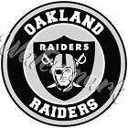 Oakland Raiders Circle Logo Vinyl Decal / Sticker 5 sizes!!