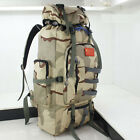 80L Military Tactical Backpack Camping Hiking Traveling Rucksack Waterproof New