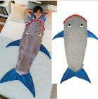 Shark Blanket Mermaid Tail Children Sleeping Bag Fleece Autumn And Winter Warm