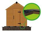 SHED BASE FULL GRID KIT + HEAVY DUTY MEMBRANE ECO BASE GREENHOUSE FLOOR GRID em