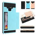 For Samsung Note 9,Hybrid Defender Anti-Scratch Soft Rubber Bumper wallet cover