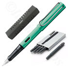 Lamy Al-Star Blue Green Fountain Pen + 5 Black T10 Ink (Choose Your Nib Size)
