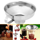 Stainless Steel Kitchen Wide Mouth Canning Funnel Hopper Filter Cooking Tools---
